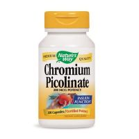 Chromium Picolinate - Pikolinian Chromu 200 mcg (100 kaps.) Nature's Way