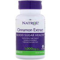 Cinnamon Extract - Ekstrakt z Cynamonu 500 mg + Wapń (80 tabl.) Natrol