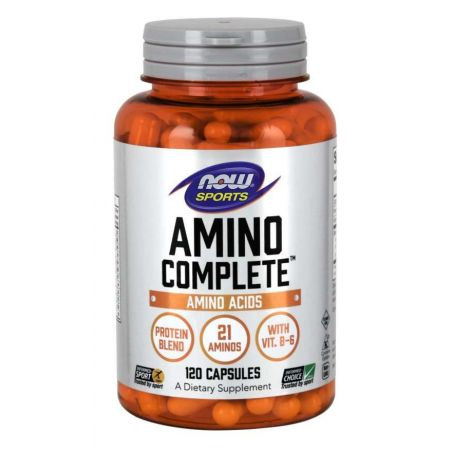 Amino Complete - Kompleks Aminokwasów i Proteiny (120 kaps.) Now Foods