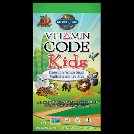 Vitamin Code Kids - Witaminy i Minerały dla Dzieci (60 żelków) Garden of Life