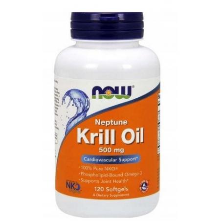 Olej z Kryla 500 mg - Neptun Krill Oil DHA EPA (120 kaps.) NOW Foods