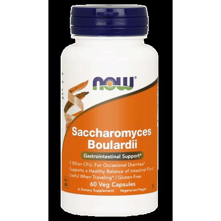Probiotyk Saccharomyces Boulardii (60 kaps.) NOW Foods