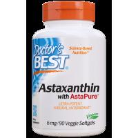 Astaksantyna 6 mg AstaPure (90 kaps.) Doctor's Best