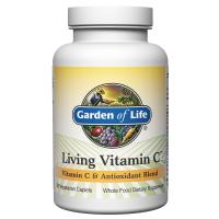 Living Vitamin C - Antyoksydanty + Bioflawonoidy Cytrusowe + Witamina C (60 kaps.) Garden of Life