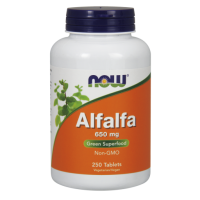 Alfalfa - Lucerna Siewna 650 mg (250 tabl.) NOW Foods