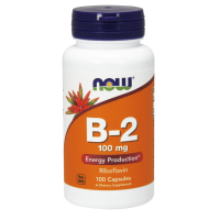 Witamina B2 - Ryboflawina 100 mg (100 kaps.) NOW Foods