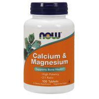 Calcium & Magnesium 2:1 - Wapń + Magnez (100 tabl.) NOW Foods