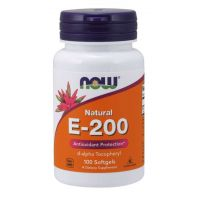 Witamina E 200 IU (100 kaps.) NOW Foods