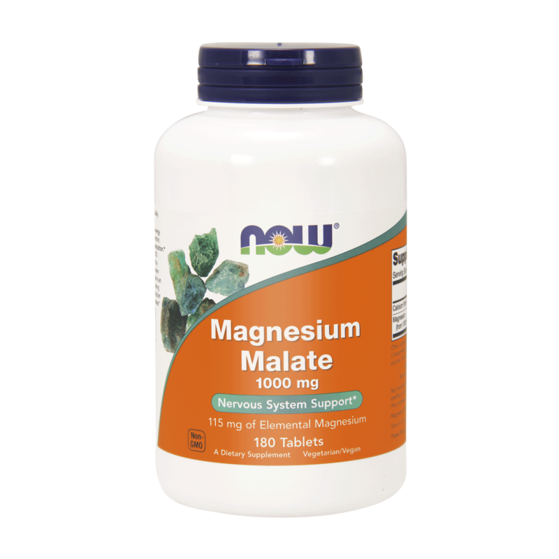 Magnesium Malate - Jabłczan Magnezu 1000 mg (180 tabl.) NOW Foods