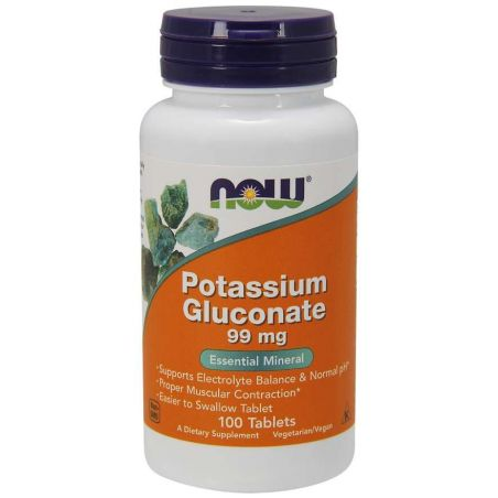 Potassium Gluconate - Glukonian Potasu (100 tabl.) NOW Foods