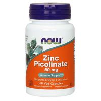 Zinc Picolinate - Pikolinian Cynku 50 mg (60 kaps.) NOW Foods