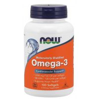 Omega 3 - DHA 120 mg + EPA 180 mg (100 kaps.) NOW Foods