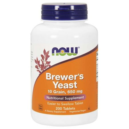Brewer's Yeast - Drożdze piwowarskie 650 mg (200 tabl.) NOW Foods