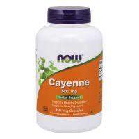 Cayenne - Pieprz kajeński 500 mg (250 kaps.) NOW Foods