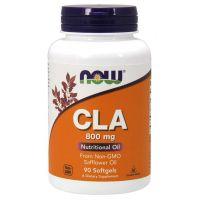 CLA 800 mg - Sprzężony Kwas Linolowy z oleju z Nasion Krokosza (90 kaps.) NOW Foods