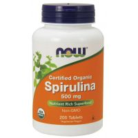 BIO Spirulina 500 mg (200 tabl.) NOW Foods