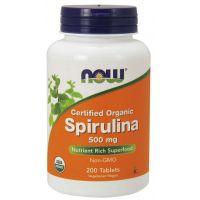 BIO Spirulina 500 mg (200 tabl.) NOW Foods