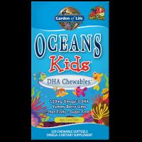 Oceans Kids DHA Chewables - Kwasy Omega 3 DHA EPA (120 kaps.) Garden of Life