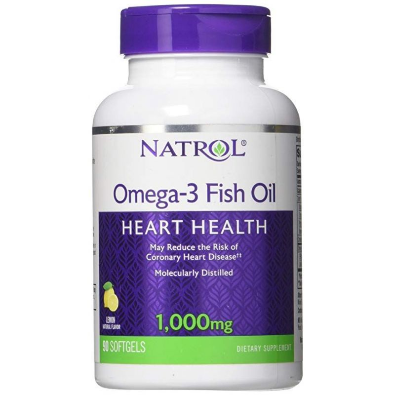 Omega-3 Fish Oil 1000 mg (90 kaps.) Natrol
