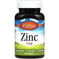 Cynk 15 mg - Glukonian Cynku (250 tabl.) Carlson