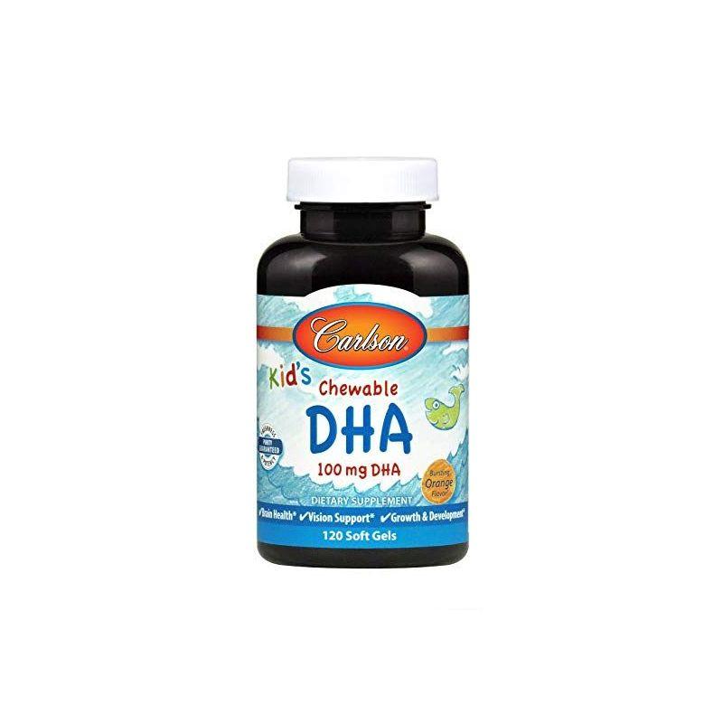 Kids Chewable DHA 100 mg - DHA dla Dzieci (120 kaps.) Carlson