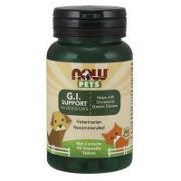 Zwierzęta - G.I. Support Mieszanka probiotyczna dla psów i kotów (90 tabl.) NOW Pets