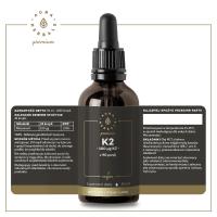 Witamina K2 100 mcg w oleju MCT - Vegan MenaQ7® (50 ml) Aura Herbals Premium