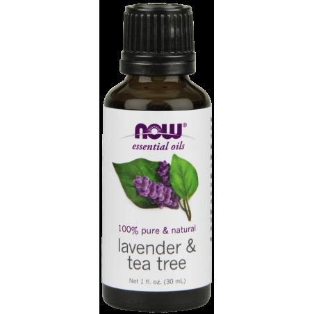 100% Olejek Lawendowy i Olejek z Drzewa Herbacianego (30 ml) NOW Foods