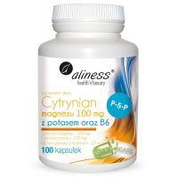 Cytrynian Magnezu 100 mg + Cytrynian Potasu 150 mg + Witamina B6 (P-5-P) 2,5 mg (100 kaps.) Aliness