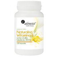 Naturalna Witamina E 400 IU (100 kaps.) Aliness