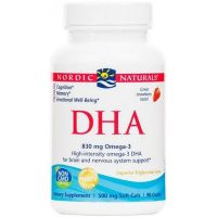 DHA Omega 3 415 mg - Olej rybi o smaku truskawkowym (90 kaps.) Nordic Naturals