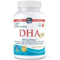 DHA Omega 3 830 mg - Olej rybi o smaku truskawkowym (60 kaps.) Nordic Naturals