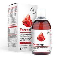 Ferradrop - Żelazo + Witamina C + Witamina B9 - Kwas Foliowy (500 ml) Aura Herbals