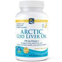 Arctic Cod Liver Oil - arktyczny Olej z Wątroby Dorsza o smaku cytrynowym (90 kaps.) Nordic Naturals