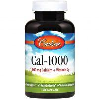 Cal-1000 - Wapń + Witamina D3 (100 kaps.) Carlson