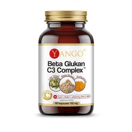 Aktywny Beta Glukan + Cynk + Selen + D3 + C + B9 - Beta-Glukan C3 Complex (60 kaps.) Yango