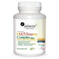 Multi Enzyme Complex PRO - Roślinne Enzymy Trawienne (90 kaps.) Aliness