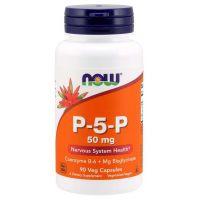 P-5-P 50 mg - Witamina B6 (90 kaps.) NOW Foods