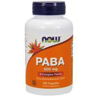 PABA - Kwas Para-Aminobenzoesowy 500 mg (100 kaps.) NOW Foods