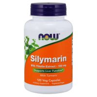 Silymarin - Sylimaryna z Ostropestu Plamistego + Kurkuma (120 kaps.) NOW Foods