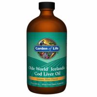 Olde World Icelandic Cod Liver Oil - Islandzki Olej z Wątroby Dorsza (236 ml) Garden of Life