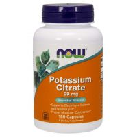 Potassium Citrate - Cytrynian Potasu 99 mg (180 kaps.) NOW Foods
