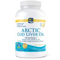 Arctic Cod Liver Oil - arktyczny Olej z Wątroby Dorsza o smaku cytrynowym (180 kaps.) Nordic Naturals