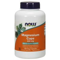 Magnesium Caps - Magnez 400 mg (180 kaps.) NOW Foods