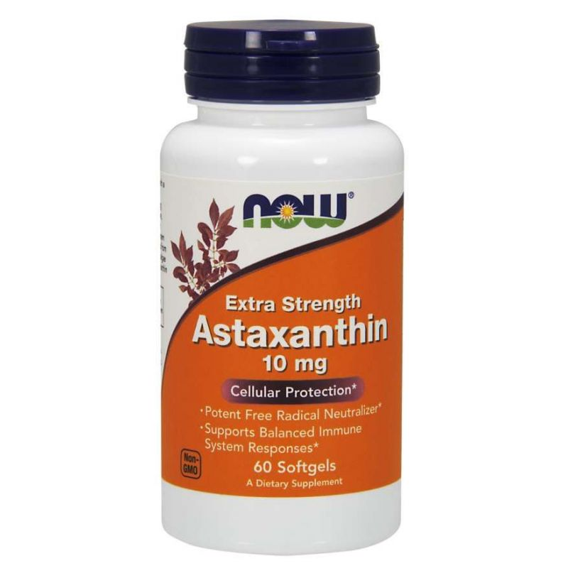 Naturalna Astaksantyna 10 mg (60 kaps.) NOW Foods