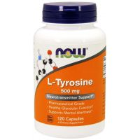 L-Tyrozyna 500 mg (120 kaps.) NOW Foods