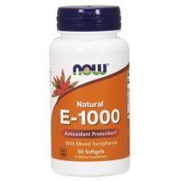 Witamina E 1000 IU (50 kaps.) NOW Foods