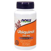 Ubichinol - Koenzym Q10 100 mg (60 kaps.) NOW Foods