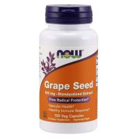 Grape Seed - Ekstrakt z Pestek Winogron 100 mg (100 kaps.) NOW Foods