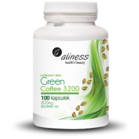 Green Coffee 3200 - Zielona Kawa 800 mg (100 kaps.) Aliness